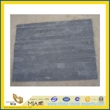 Black Slate Cultural Stone for Wall Cladding (YQA-S1002)