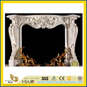 Stone Carving / Carved Marble Stone Fireplace/Marble Fireplace
