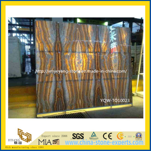 Book-Match Tara Travertine Natural Stone Onyx for Hotel Background