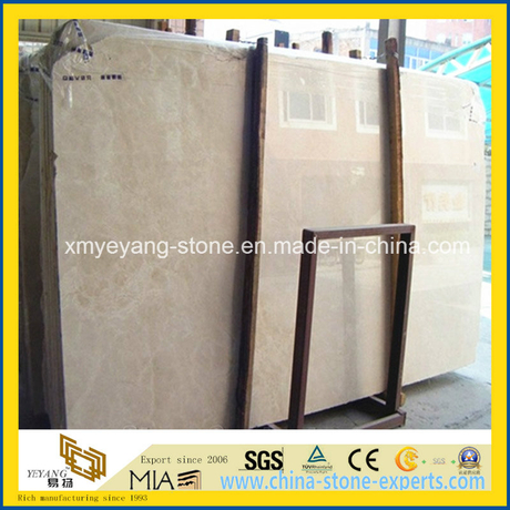 Cream Marfil Marble Slab for Interior Floor Tile/Wall Panel