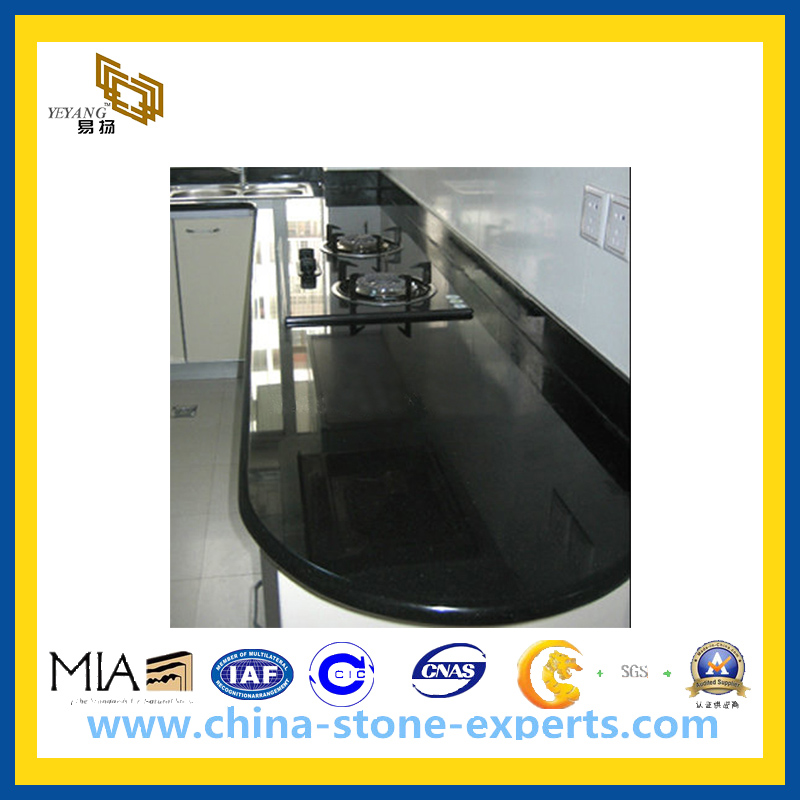 Natural Black Granite / Marble Stone Vanity Top Countertop for Kitchen, Bathroom(YQG-CV1036)