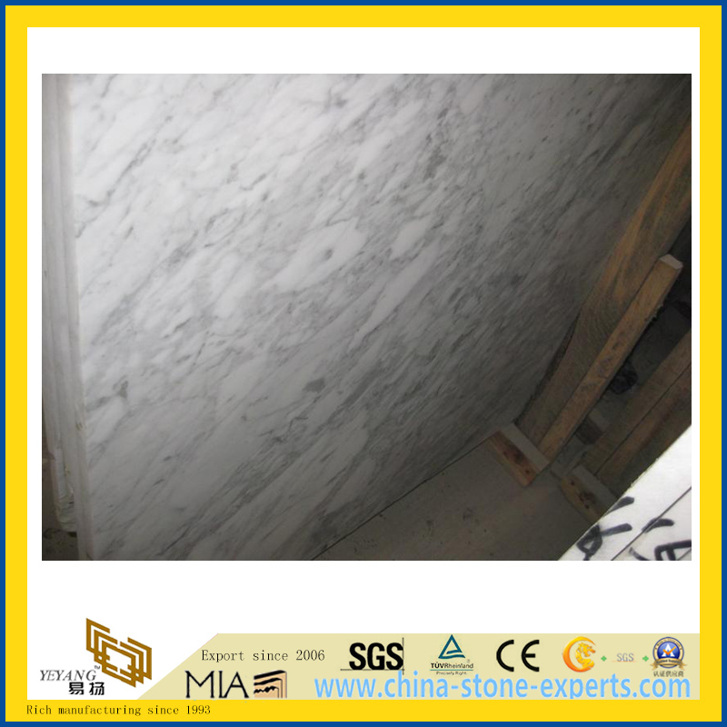 Polished Calacata White Marble Slab for Countertop/Vanity Top