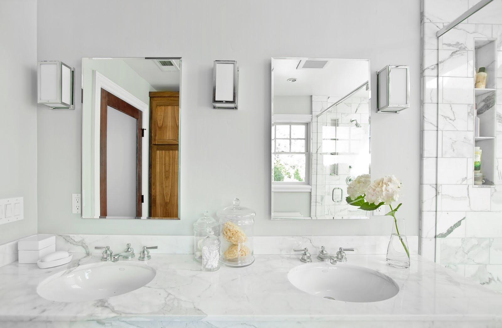 White Carrara Marble Bathroom Vanity