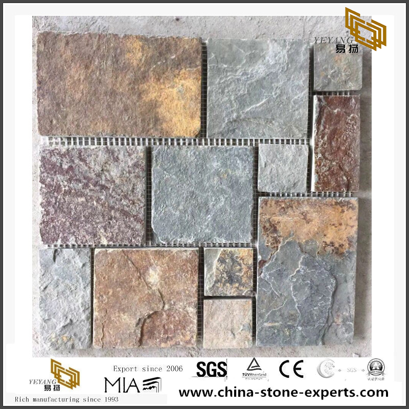 Tumbled Marble Mosaic Tiles Natural