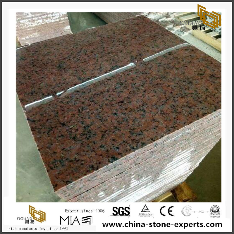 Red Granite Stone Small Tiles Outlet